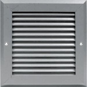 600W x 450H Flush Mounted Grille -Aluminium Finish-
